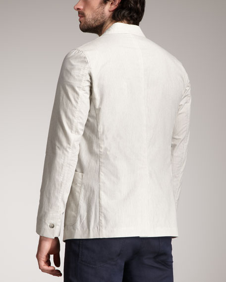 Fine-Stripe Cotton-Blend Jacket