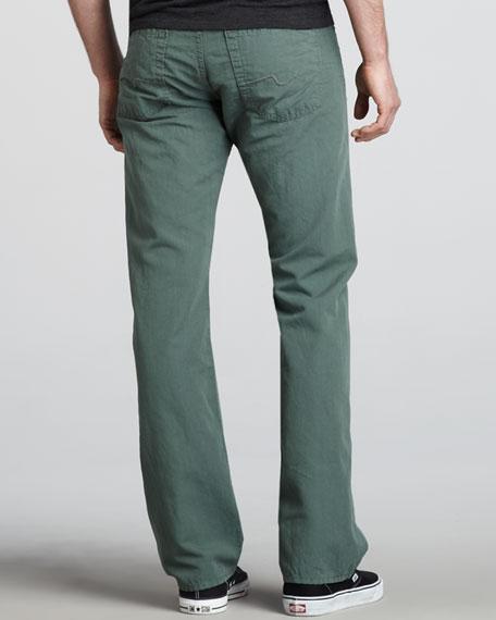 Standard Cotton-Linen Pants, Green