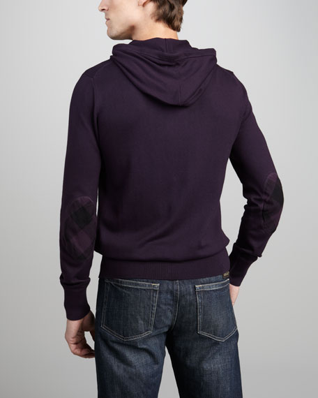 Check-Patch Zip Hoodie, Trench