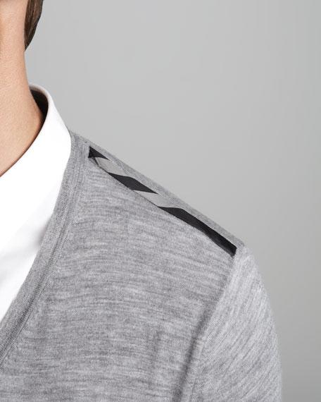 Check-Shoulder Sweater