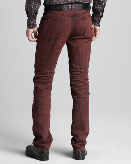 Slim Bordeaux Jeans
