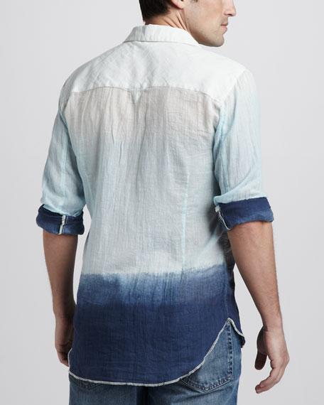 Dip-Dye Sport Shirt, Blue