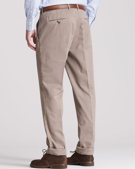 Basic Flat-Front Pants