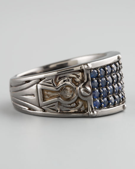 Sapphire Inlay Ring