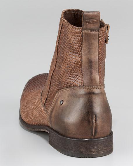 Lizard-Embossed Boot