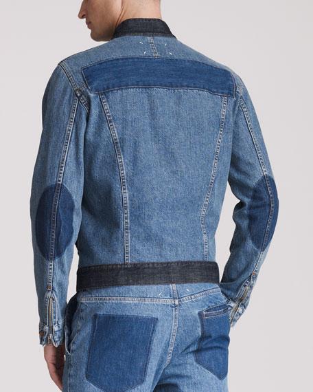 Patched Denim Jacket