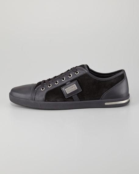 Metal Logo Sneaker, Black