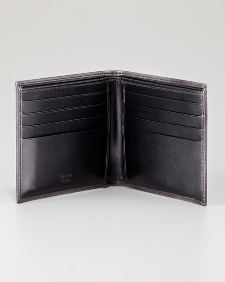 Spazzolato Patchwork Bi-Fold Wallet