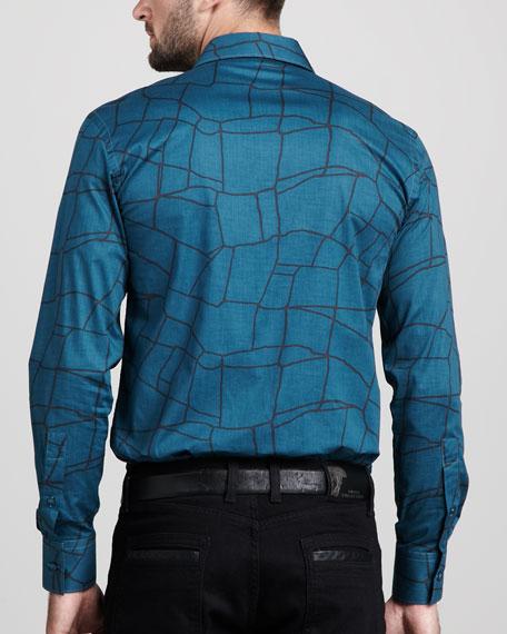 Line-Print Sport Shirt