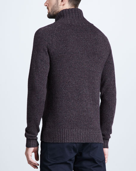 Wool-Blend Zip Sweater