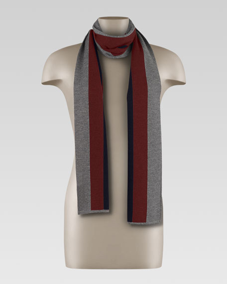 Crook Scarf with Web Detail