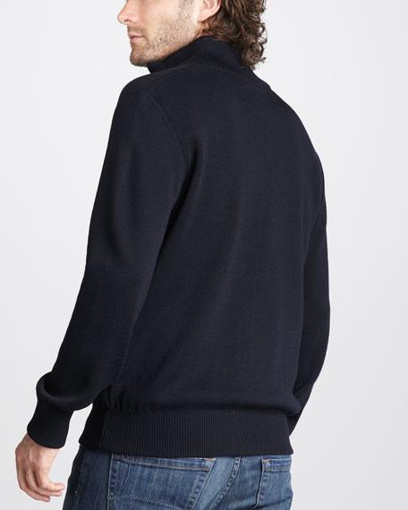 Front-Zip Bunny Jacket, Navy