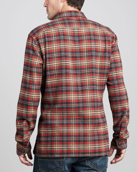 Flannel Shirt, Crimson