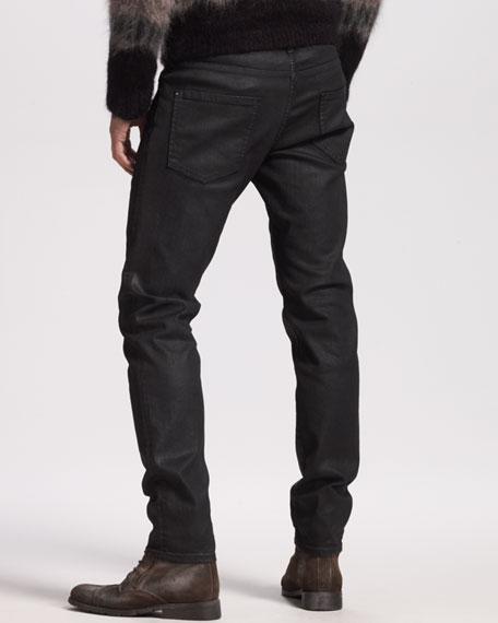Bull Oiled Black Jeans
