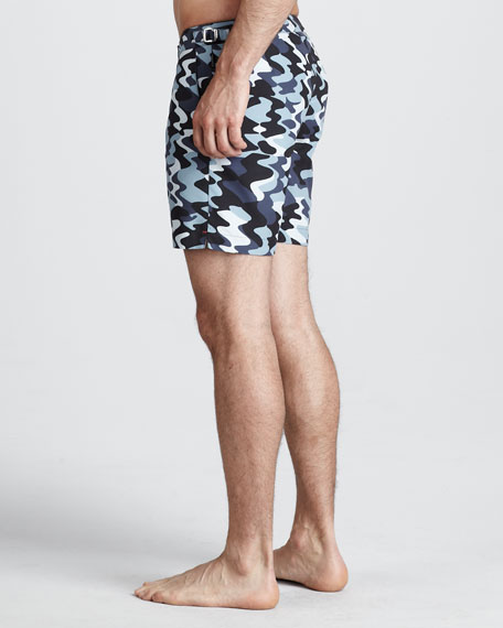 Bulldog Camo Swim Shorts, Graphite/Chalk