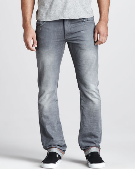 Gray Day Rubber Print Jeans