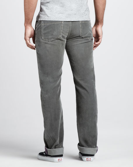 Corduroy Pants, Gray/Green