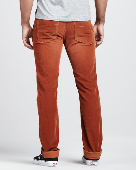 Corduroy Pants, Rust