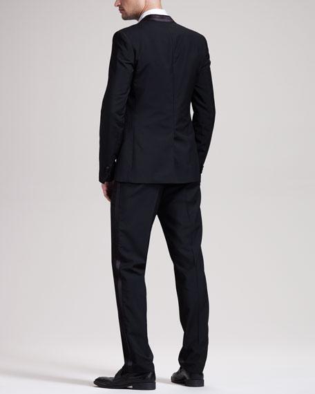 Contrast-Lapel Suit