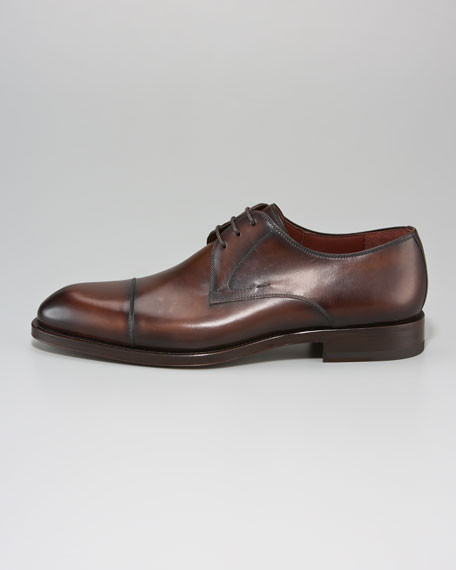 Cap-Toe Lace-Up, Brown