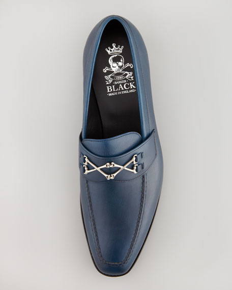 Wolfe Crossbones Loafer, Navy