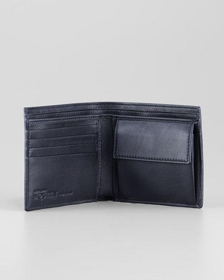 Brogue Skull Classic Wallet, Black