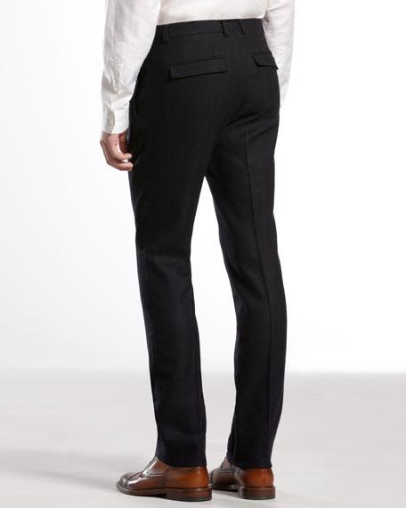 Flannel-Weave 60s Skinny Pants