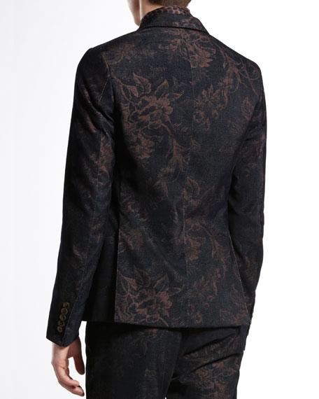 Floral-Print Dandy Jacket