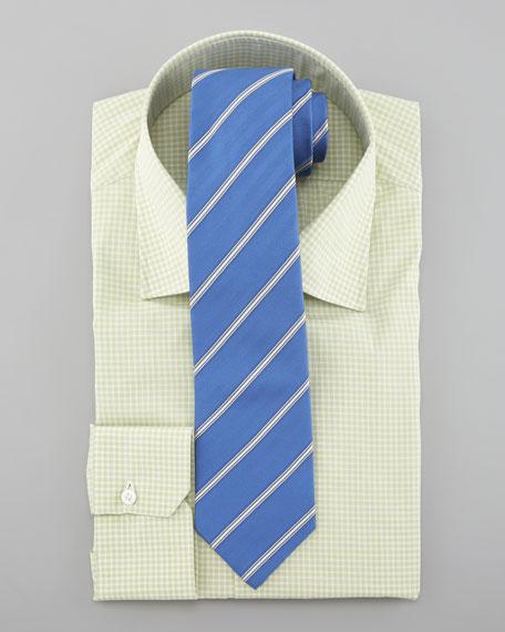 Box-Check Dress Shirt, Light Green
