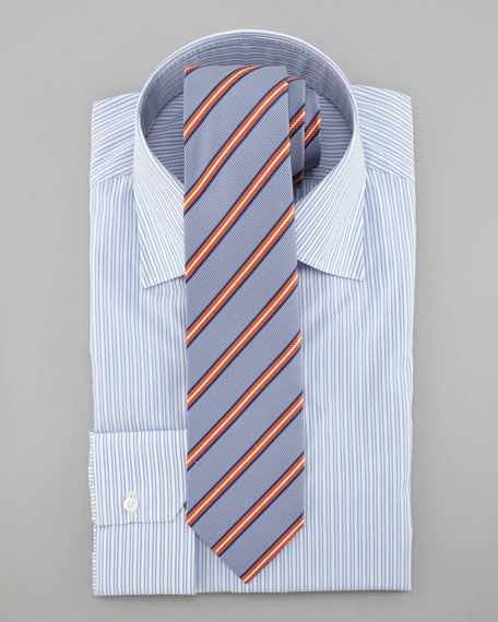 Striped Dress Shirt, Light Blue