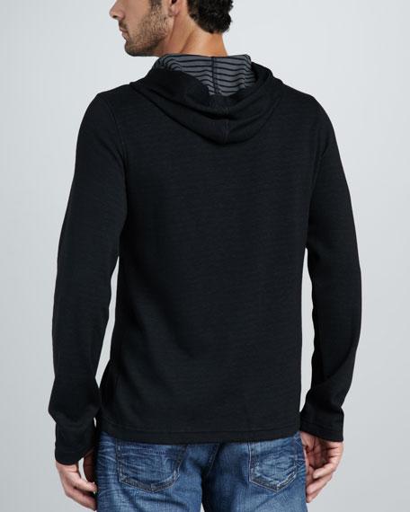 Double-Face Zip Hoodie, Black/Cast Iron