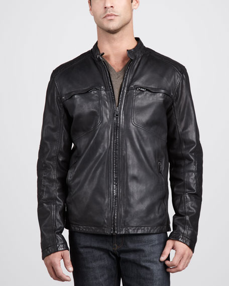 Warp Leather Jacket