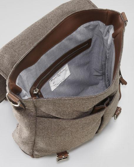 Flannel Crossbody Messenger Bag