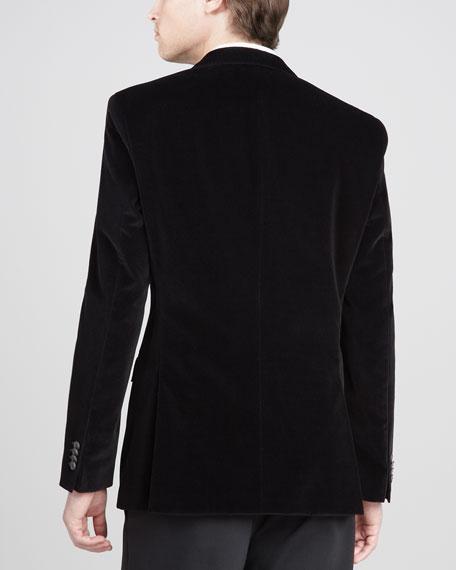 Velvet Blazer, Black