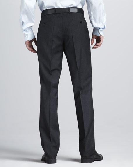 Mini-Check Dress Pants, Charcoal