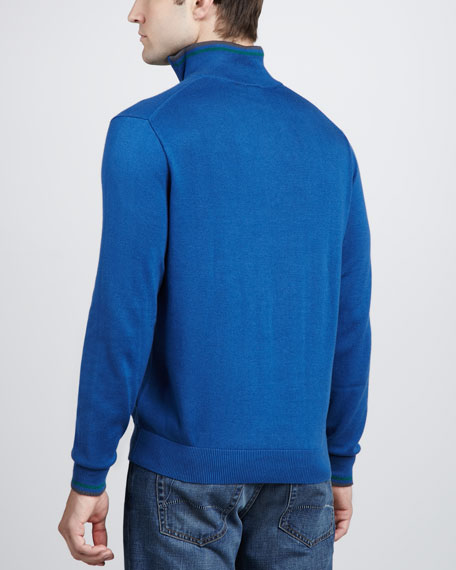 Half-Zip Sweater, Epic Blue