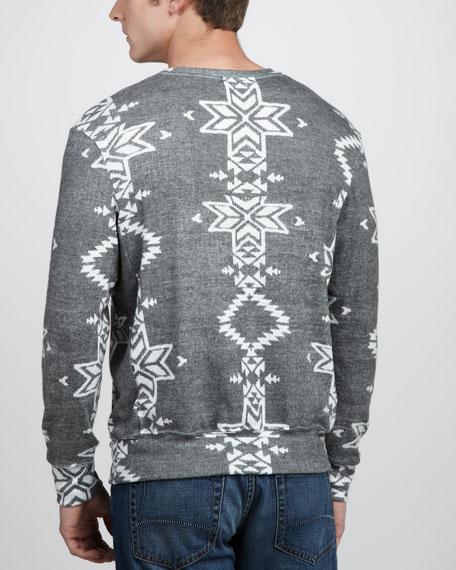 Geometric-Knit Pullover