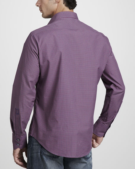 Small-Check Sport Shirt