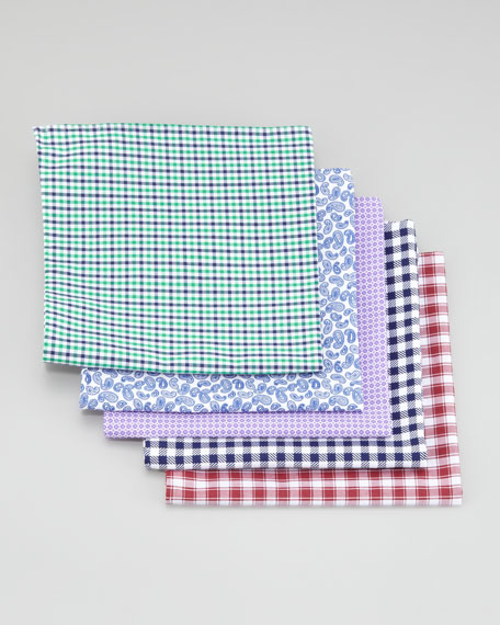 Pocket Squares Five-Piece Set