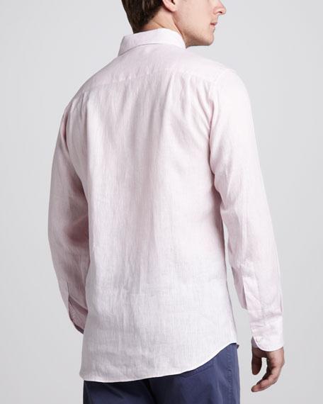 Linen Sport Shirt, Pink