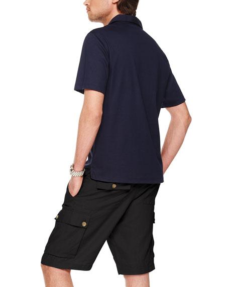 Linen Cargo Shorts, Teak