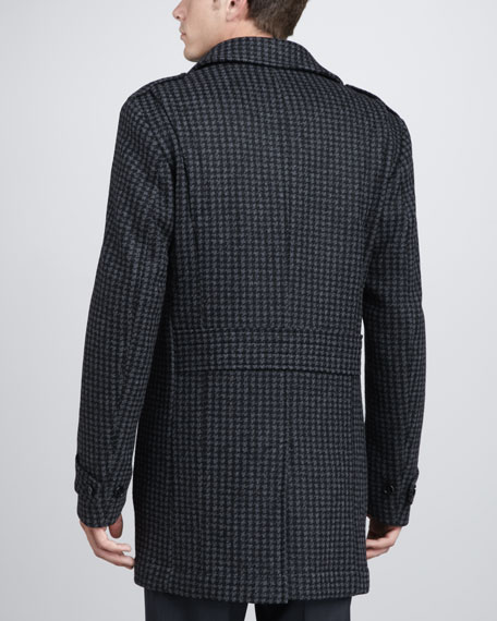 Houndstooth Serge Coat