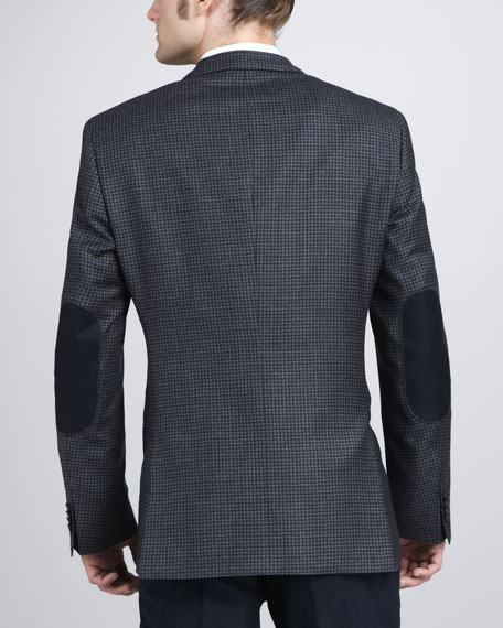 Elbow-Patch Check Sport Coat