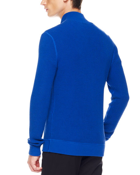 Thermal Zip Sweater, Royal
