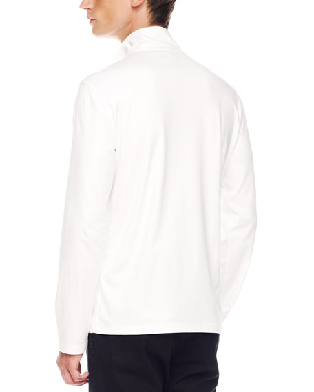 Two-Pocket Jersey Pullover, White