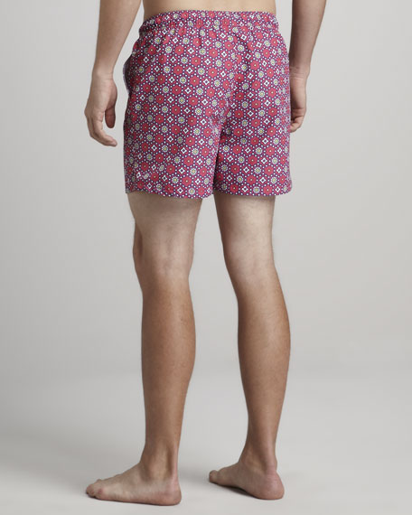 Medallion-Print Swim Trunks