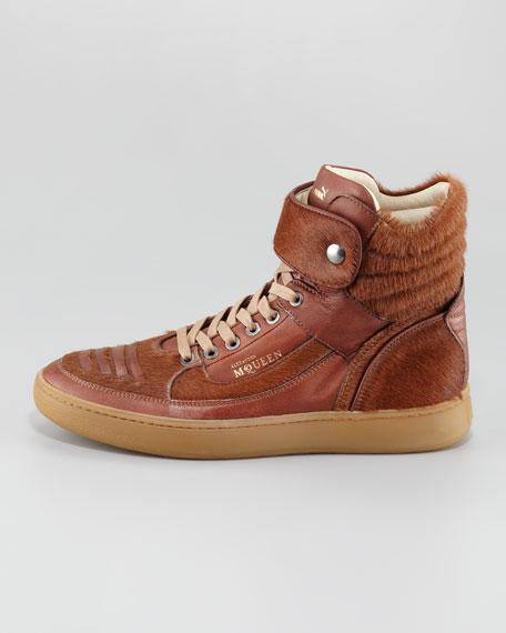 Joust Calf-Hair High-Top Sneaker
