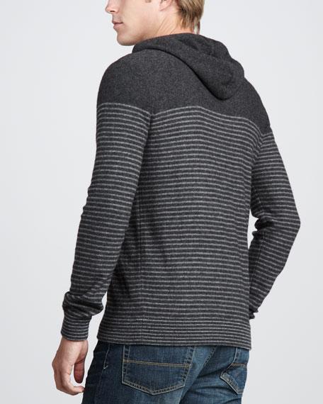 Breton-Stripe Cashmere Hoodie
