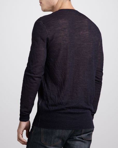 Double-Layer V-Neck Sweater