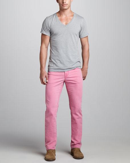 Five-Pocket Pants, Pink